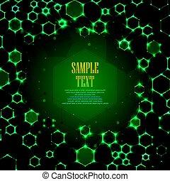 分子, 抽象的, dna, 背景