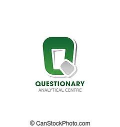 分析的, 紋章, questionary, 中心