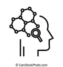 分析的, 考え, デザイン, イラスト