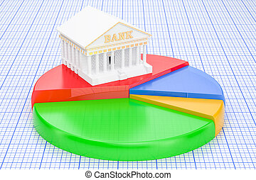 分析的, 銀行業, 概念, レンダリング, 3d