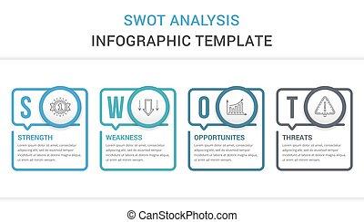 分析, 図, swot