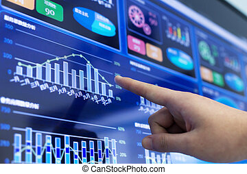 分析, 金融の報告, かちりと鳴ること, ビジネス
