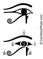 分画, 目, horus, 価値, 黒, 白