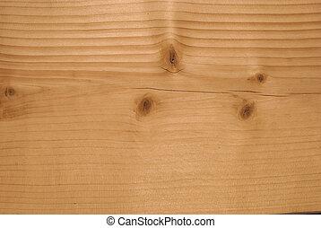 分解しなさい, の, 球果を結ぶ, 板, ∥で∥, 独特, 木, パターン, そして, 結び目, クローズアップ