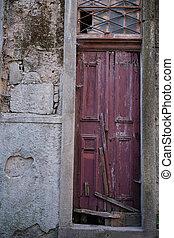 分解しなさい, 中心, porto, 古い, 捨てられた, portugal., 家, ファサド