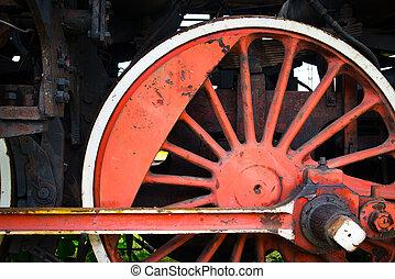 分解しなさい, 車輪, 古い, locomotive's