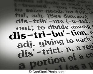 分配, 辞書