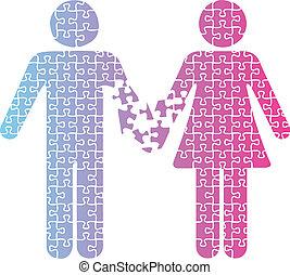 分離, 愛, 人々, 恋人, 困惑
