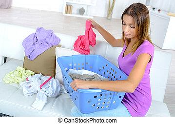 分類, 洗濯物