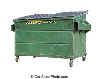 切り抜き, 緑, dumpster, リサイクルしなさい, 道, 白, 屑, ∥あるいは∥