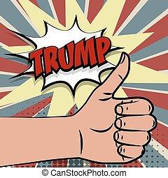 切り札, donald, 支持, アメリカ