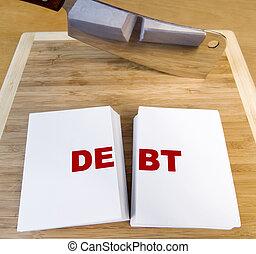 切割, 债务