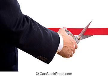切割, 红的带子