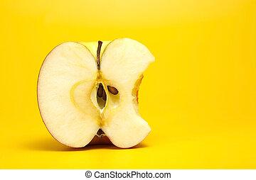 切口, アップル, 赤, 半分
