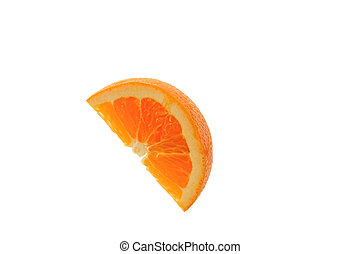 切口, オレンジ, 上に, ∥, 白い背景
