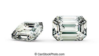 切口, ダイヤモンド, エメラルド