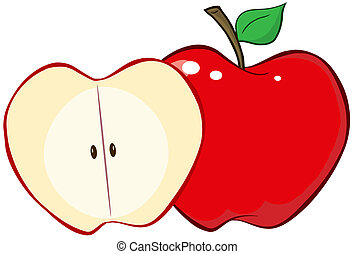 切口, 全りんご, 赤