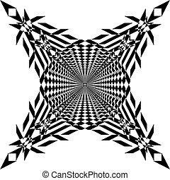 切口, 芸術, のように, tridimensional, 抽象的, 交差点, イラスト, deco, アラベスク, 6...