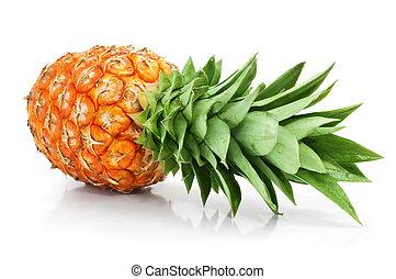 切口, 葉, フルーツ, 緑, パイナップル, 新たに