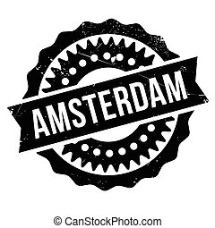 切手, アムステルダム, ゴム, グランジ