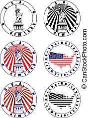 切手, アメリカ人