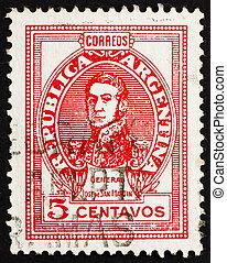 切手, アルゼンチン, 1945, jose, de, san, イワツバメ, 将官