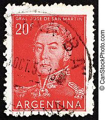 切手, アルゼンチン, 1954, jose, de, san, イワツバメ, 将官