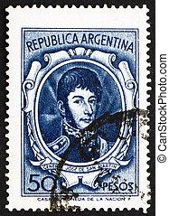 切手, アルゼンチン, 1955, jose, de, san, イワツバメ, 将官