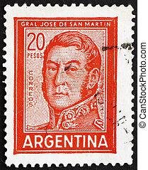 切手, アルゼンチン, 1967, jose, de, san, イワツバメ, 将官