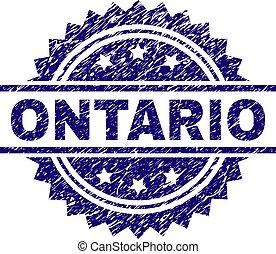 切手, オンタリオ, グランジ, textured, シール