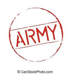 切手, グランジ, 赤, 軍隊