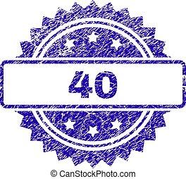 切手, グランジ, 40, シール