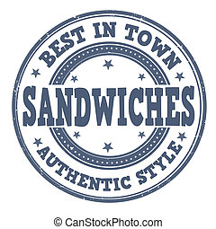 切手, サンドイッチ