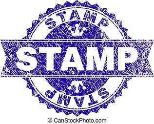 切手, シール, グランジ, リボン, textured