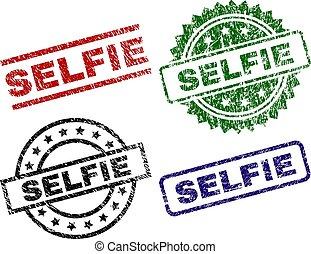 切手, シール, textured, selfie, 傷つけられる