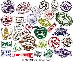 切手, セット, mega