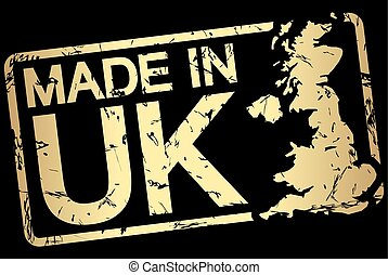 切手, テキスト, 作られた, イギリス, 金