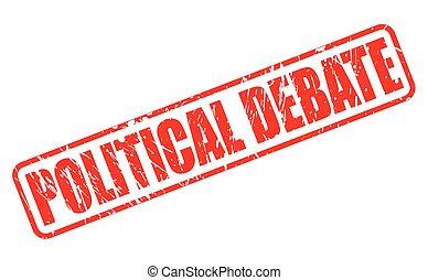 切手, テキスト, 政治的である, 討論, 赤