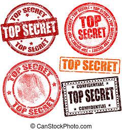 切手, トップの秘密, コレクション
