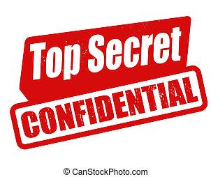 切手, トップの秘密, 機密