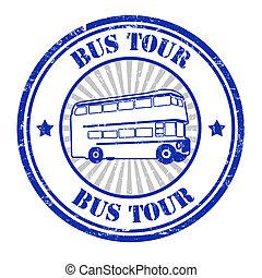 切手, バス, 旅行