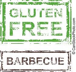 切手, バーベキュー, ベクトル, gluten, 無料で