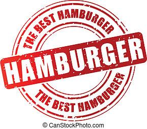切手, ベクトル, ハンバーガー