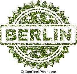 切手, ベルリン, textured, グランジ, シール