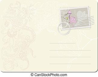 切手, ポスト, ベクトル, magnol, ブランク