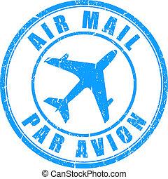 切手, メール, 空気