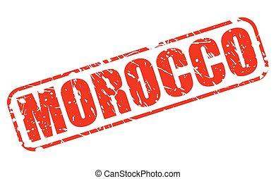 切手, モロッコ, 赤, テキスト