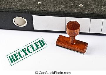 切手, リサイクルされる