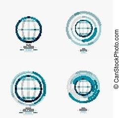 切手, 世界地球儀, ロゴ