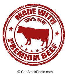 切手, 作られた, 優れた, 牛肉